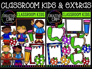 Classroom Kids and Extras {Creative Clips Digital Clipart}