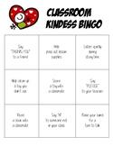 Classroom Kindness Bingo Board