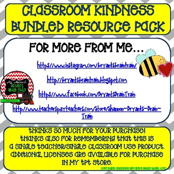 Classroom Kindness Bundled Resource Pack