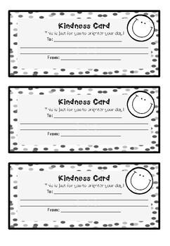 Classroom Kindness Cards