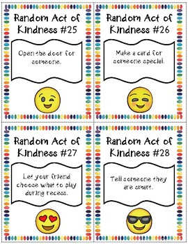 Classroom Kindness Challenge Emoji Themed By All Jazzed Up Tpt