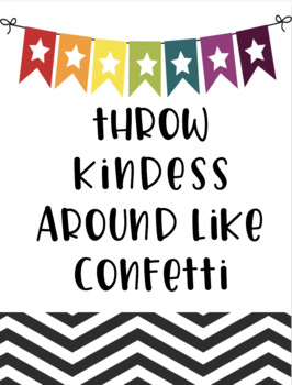 Classroom Kindness: Posters & Activity