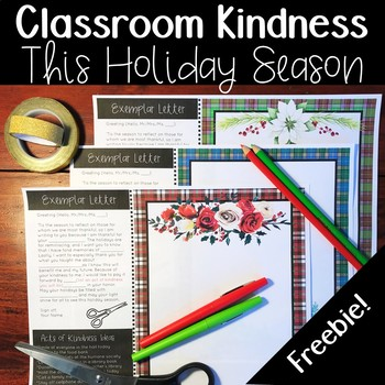 Classroom Kindness for the Holiday Season #ClassroomChristmasKindness