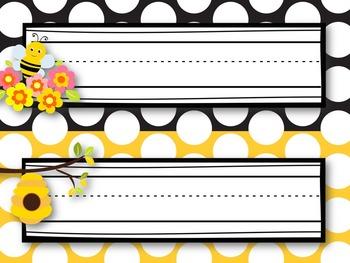 Classroom Decor Kit {Bee Themed}