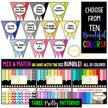 Classroom Decor Kit (PINK) Perfect For Your Decorating & Organizing.