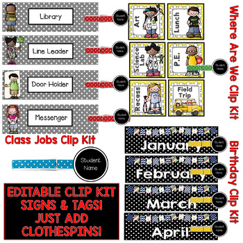 Classroom Decor Kit (RED) Perfect For Your Decorating & Organizing.