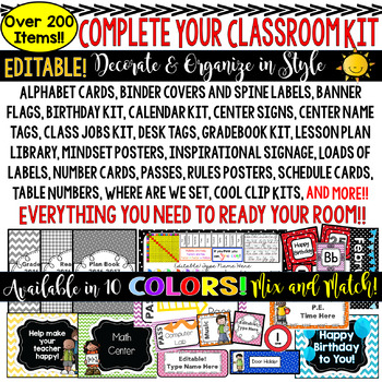 Classroom Decor Kit (YELLOW) Perfect For Your Decorating & Organizing.