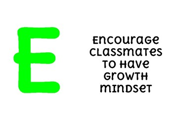 Classroom LEARN rules posters