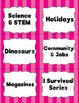 """Classroom Labels Bundle: 10 """"Colorful Stripes"""" Sets"""