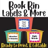"Classroom Labels: 10 ""Colorful Stripes"" Sets"
