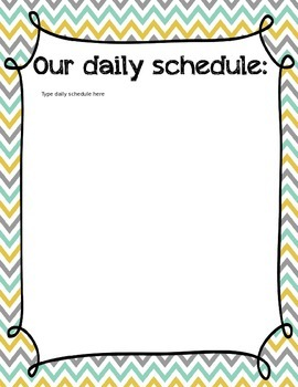 Classroom Organization and Center Labels Bundle