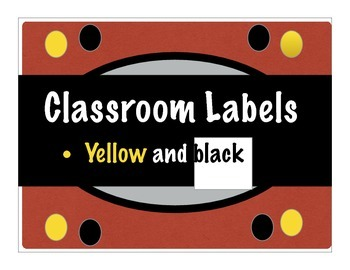 Classroom Label Collection 1