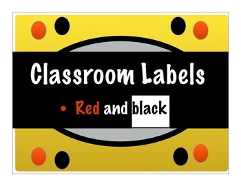 Classroom Label Collection 2