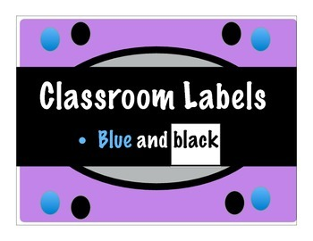 Classroom Label Collection 3