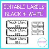 Classroom Editable Labels {FREEBIE}