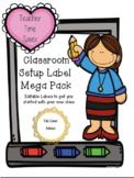 Classroom Label Mega Pack - Editable Labels  - Class Set