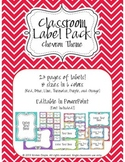 Classroom Label Pack (Editable) - Chevron