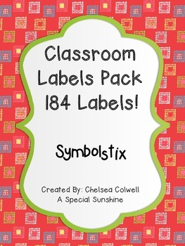 Classroom Label Pack for Special Education