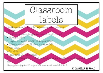 Classroom Label Package