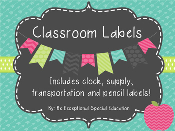 Classroom Label Set