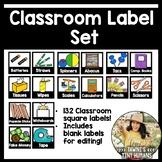 Classroom Label Set -Square Pocket Labels