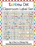 Classroom Label Set (Rainbow Dot)