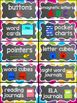 Classroom Label Set: Supplies, Library, Manipulatives, Tab