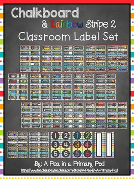 Classroom Label Set: Supplies, Library, Manipulatives, Table Numbers
