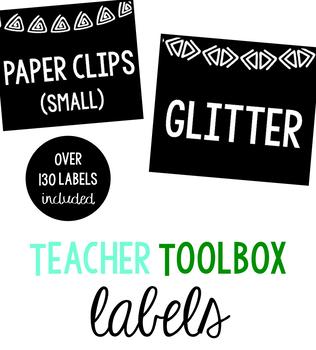 Classroom Label Set: White Border