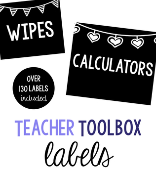 Classroom Label Set: White Flags