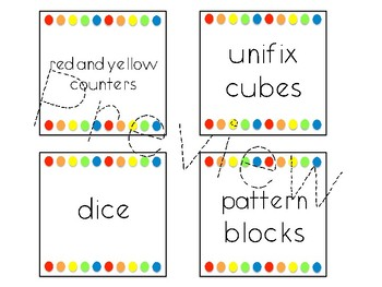 Editable Classroom Supply Labels for Target Squares