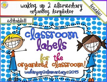 Classroom Label Template-FREEBIE!