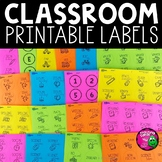 Classroom Label Templates for Avery Printable Stickers