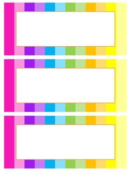 Rainbow Classroom Labels