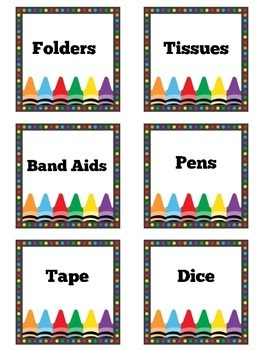Classroom Labels | Labels | Supply Labels | Printable Labels | Class Labels