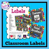 Editable Classroom Labels | Classroom Labels Editable | Blue & Multicolor Theme