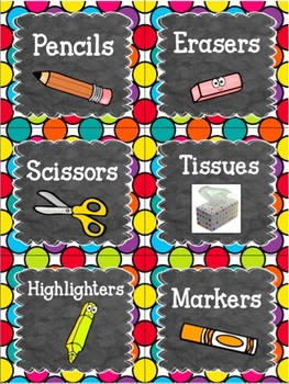 Editable Classroom Labels   Classroom Labels Editable   Blue & Multicolor Theme
