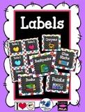 Editable Classroom Labels: Rainbow Dots