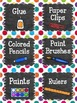 Editable Classroom Labels: Rainbow Dots