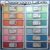 Classroom Labels with Pictures - Polka dot Borders plus Ed