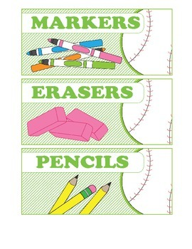Classroom Labels 2 (Sports theme)