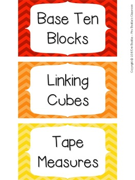 Labels for Math Supplies - Editable