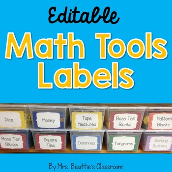 Editable Labels for Math Supplies (Or Other Purposes)