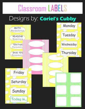 free classroom labels by coriel s cubby teachers pay teachers