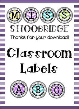 Colourful Letters Classroom Labels