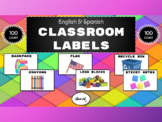 Classroom Labels (100 Count, English & Spanish)