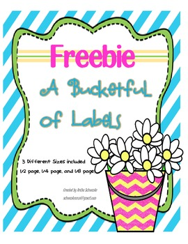 Classroom Labels:  A Basketful of Labels