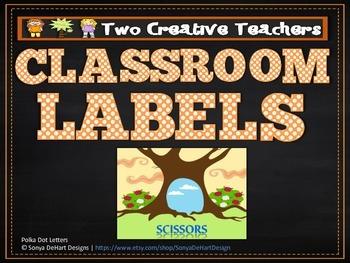 Classroom Labels Alice in Wonderland Theme