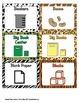 Classroom Labels - Animal Print - ZisforZebra - Editable!