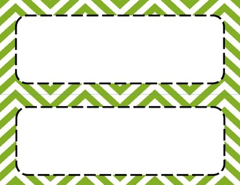 Classroom Labels (Apple Green Chevron)